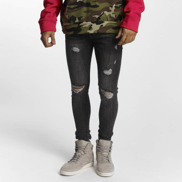 Sixth June Slim Fit Jeans Classic grå