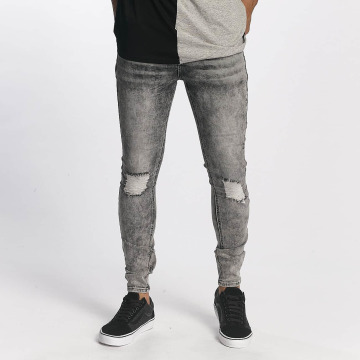 Sixth June Slim Fit Jeans Classic Slimfit grå