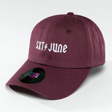 Sixth June Snapback Cap Logo purple