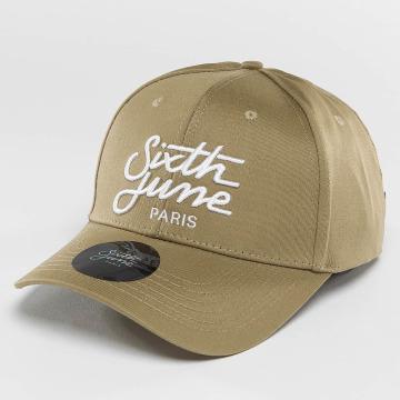 Sixth June Snapback Caps Curved Logo bezowy