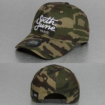 Sixth June Snapback Caps Curved Logo moro