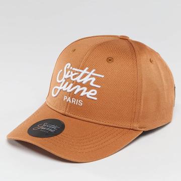 Sixth June Snapbackkeps Curved Logo brun