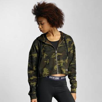 Sixth June Sweat capuche zippé Oversized camouflage