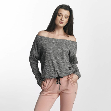 Sixth June Swetry Oversize Cold Shoulder szary