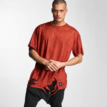 Sixth June T-shirt Destroyed Overside Suede röd