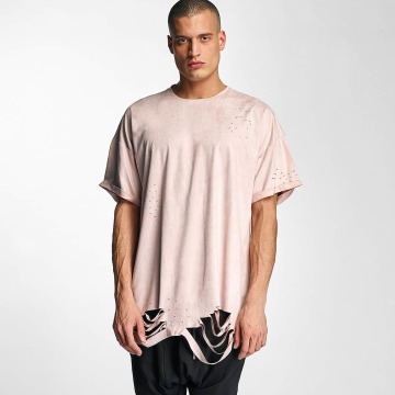 Sixth June T-Shirt Destroyed Overside Suede rose