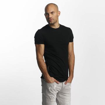 Sixth June T-Shirty Skinny Round Bottom czarny