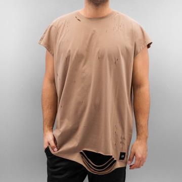 Sixth June T-skjorter Destroyed Muscle beige