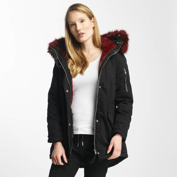 Sixth June winterjas Oversize With Fake Fur Hood Classic zwart