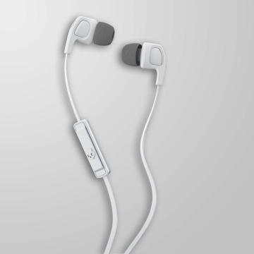 Skullcandy Headphone Smokin Bud 2 Mic 1 white