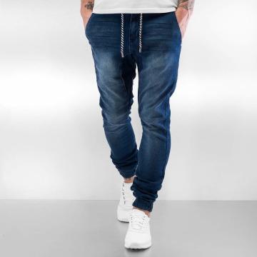 Sky Rebel Joggebukser Jeans Style blå