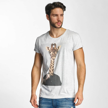 Sky Rebel t-shirt Luke grijs