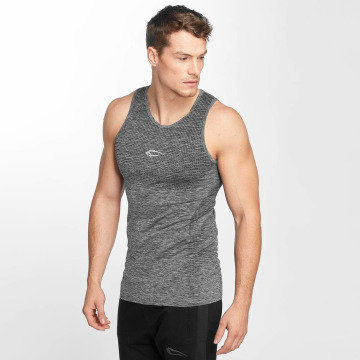 Smilodox Tanktop Strip grijs