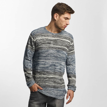 Solid Pullover Kamal Knit blau