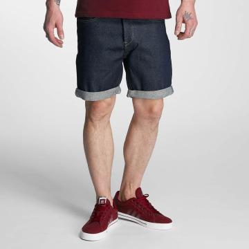 Solid shorts Denim blauw
