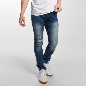 Solid Slim Fit Jeans Joy Stretch синий