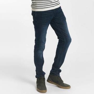 Solid Slim Fit Jeans Joy Strech blauw