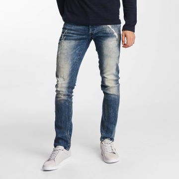 Solid Straight fit jeans Joy Stretch Hybrid blauw