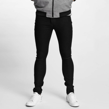 Solid Straight fit jeans Dexter zwart