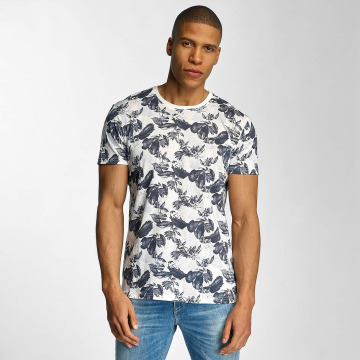 Solid t-shirt Flowers blauw