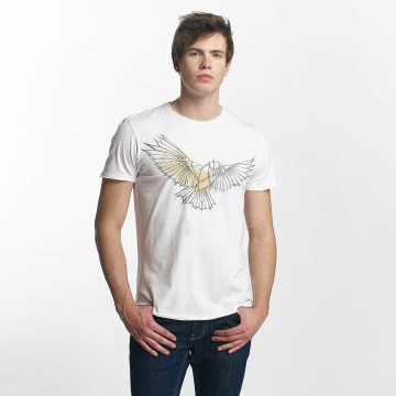 Solid t-shirt Laurits wit