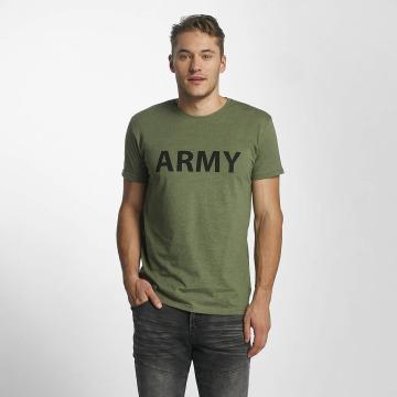 Solid T-shirts Kealan oliven