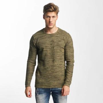 Solid trui Jamail olijfgroen