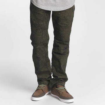 Southpole Jean coupe droite Colored Acid olive