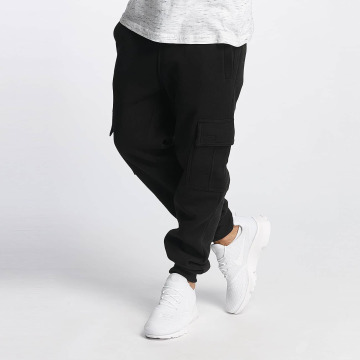 Southpole Jogging kalhoty Basic Fleece Cargo čern