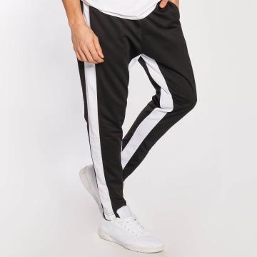 Southpole Jogging kalhoty Contrast Side Panel čern