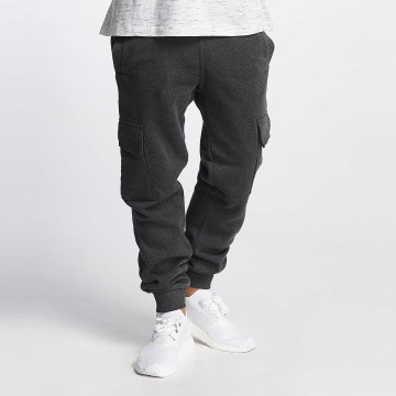 Southpole joggingbroek Basic Fleece Cargo grijs