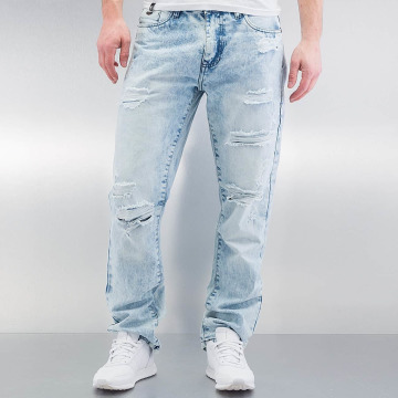 Southpole Straight Fit Jeans Ripped Slim blå