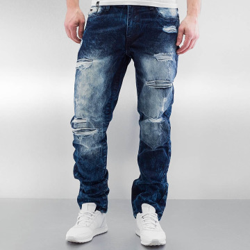 Southpole Straight Fit Jeans Ripped Slim blau