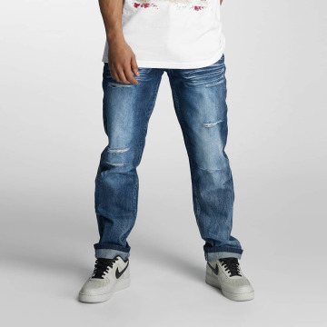 Southpole Straight fit jeans Ripped Slim blauw