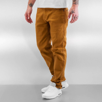 Southpole Straight fit jeans Vernon bruin