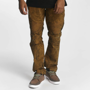 Southpole Straight fit jeans Colored Acid bruin