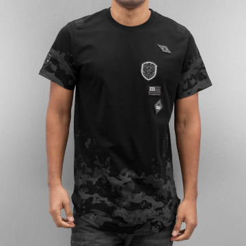 Southpole T-paidat Scallop Patch And Print musta