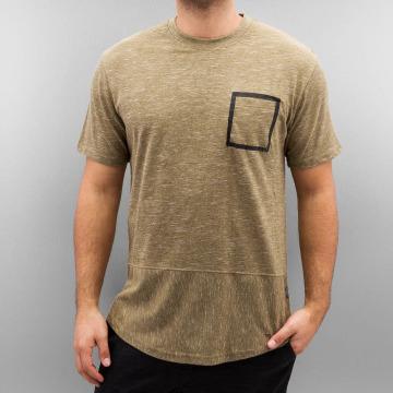 Southpole T-Shirt Slub Scallop beige