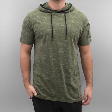 Southpole t-shirt Slub Scallop Hoody olijfgroen