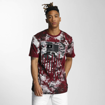 Southpole T-Shirt Camo Print Fur Technique red