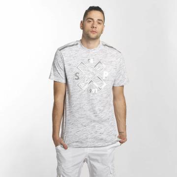 Southpole T-skjorter Marbled hvit