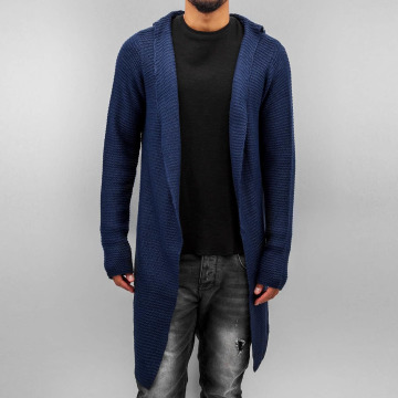 Stitch & Soul Cardigan Long bleu