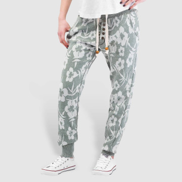 Sublevel joggingbroek Flowers groen