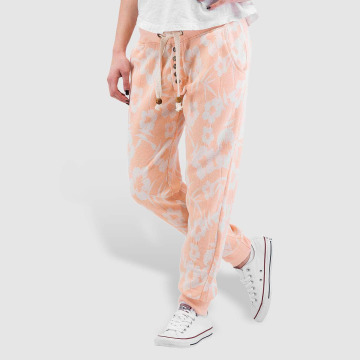 Sublevel joggingbroek Flowers oranje