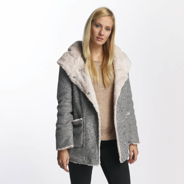 Sublevel Mantel Hooded Coat grau