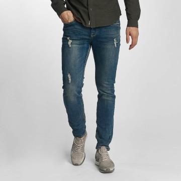 Sublevel Slim Fit Jeans Destroyed Look blau