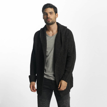 Sublevel Strickjacke Hooded Cardigan schwarz