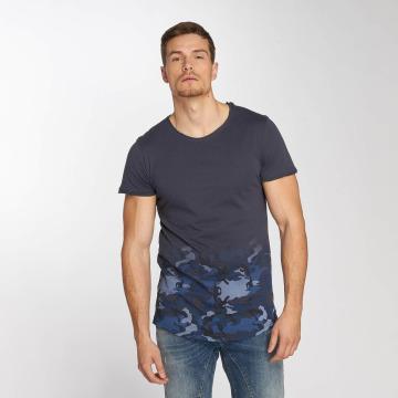 Sublevel t-shirt Deep Camo blauw