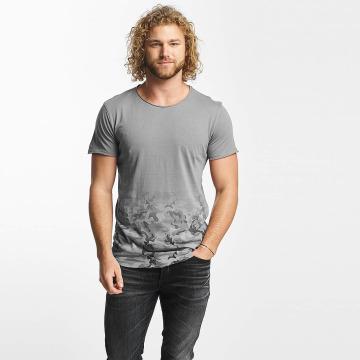 Sublevel T-Shirt Camouflage Print grau