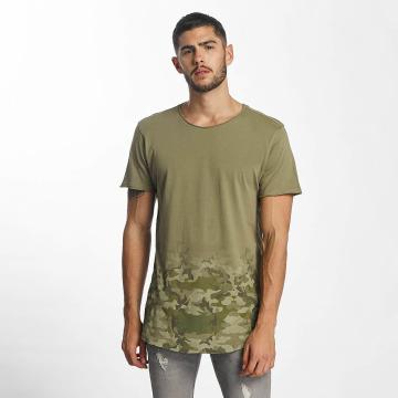 Sublevel t-shirt Camouflage Print olijfgroen